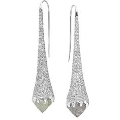 Diamond in the Rough Iceberg Earrings (€84.815) ❤ liked on Polyvore featuring jewelry, earrings, accessories, brincos, diamond, white gold jewellery, 18k white gold jewelry, white gold earrings, 18 karat gold earrings and pave jewelry