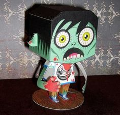 PAPERMAU: Halloween Special - Build Your Own Zombie Paper Toy - by Macula