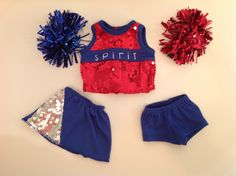 Trendy Dolls - Sequin Cheer Outfit for 18 inch American Girl Dolls, $19.50 (http://www.mytrendydoll.com/18-inch-doll-sportswear/sequin-cheer-outfit-for-18-inch-american-girl-dolls/)