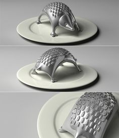 Great idea for a grater. Especially like that it's curved and fits easily on a small plate. Smart and cute.