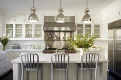 Small White Kitchen #kitchen #small #white #island