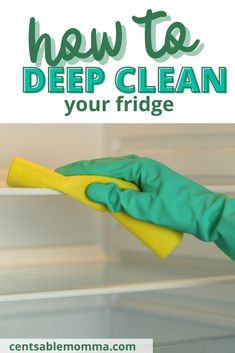 As part of your cleaning routine, you may want to deep clean your fridge, but what's the best way to do it? Check out these 7 easy steps (including using baking soda) to have a clean refrigerator in your home kitchen. #cleaninghacks #bakingsoda #deepcleaning #cleanfridge Deep Cleaning, Spring Cleaning, Cleaning Hacks, Clean Refrigerator, Baking Soda, Routine, Check, Easy, Kitchen
