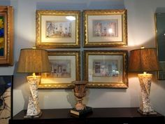 """Pair of Mother of Pearl Lamps On Lucite Base   32"""" High   $875  Dealer #757  Lost. . .Antiques 1201 N. Riverfront Blvd. Dallas, TX 75207  Monday - Saturday: 10am - 5pm Sunday 11am - 5pm"""