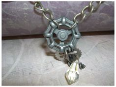 Items similar to Water Valve Faucet Handle Necklace Steampunk on Etsy Water Valves, Cool Things To Make, How To Make, Faucet Handles, Repurposed, Steampunk, Trending Outfits, Unique Jewelry, Handmade Gifts