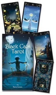 This Rider-Waite-based tarot celebrates and honors the beautiful and magical black cats. Cleverly incorporating feline characteristics and legend into traditional tarot archetypes, this fanciful deck captures these creatures moving between worlds. Tarot Card Decks, Tarot Cards, Witch Shop, Cartomancy, Tarot Spreads, Cruelty Free Makeup, Oracle Cards, Archetypes, Deck Of Cards