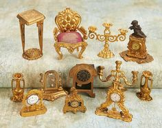 Small Courtesies: 51 Collection of Rare German Ormolu Accessories by Erhard & Sohne