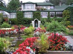 Butchart home at one time.Jenny Butchart created this whole garden from her husbands rock quarry.  Amazing