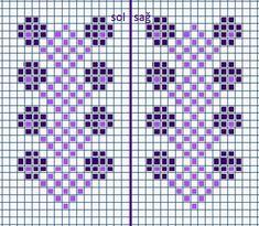 Cross Stitch Boards, Cross Stitch Bookmarks, Bead Loom Patterns, Cross Stitch Patterns, Bordado Tipo Chicken Scratch, Knit Stranded, Knitted Mittens Pattern, Drops Patterns, Crochet Bedspread