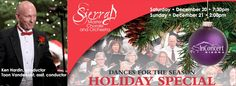 InConcert Sierra Holiday concert, Saturday and Sunday, December 20th 7:30pm and 21st 2:00pm, Sierra Master Chorale and Orchestra Holiday Concerts, Seventh-day Adventist Church 12889 Osborne Hill Road Grass Valley, CA  95945