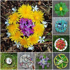 mano kellner, meine mandalas im mai 2015 Kids Outdoor Play, Outdoor Learning, Preschool Art, Nature Crafts, Creative Kids, Mandala Art, Natural Materials, Art School, Garden Art