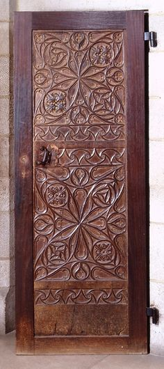 Ancient Door  -  Early 15th,16th century, Spanish walnut  wood