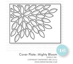 Mighty Bloom Cover Plate die by PTI