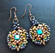 women beaded earrings dangle drop earrings handmade by fatash1
