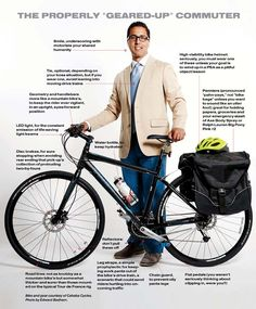 """The Properly Geared Up Commuter"" / The Road Most Traveled / B-Metro July 2013 / Written by Phillip Ratliff"