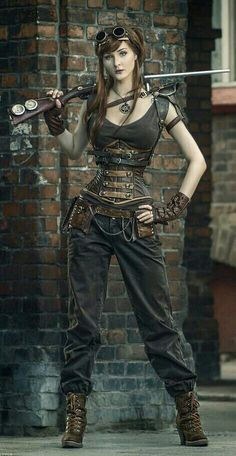 60 Best Steampunk Costume Ideas for Your Adventure Time - Enjoy Your Time; I've discovered I love Steampunk. There needs to be more of this in my future. Steampunk Cosplay, Chat Steampunk, Viktorianischer Steampunk, Steampunk Clothing, Steampunk Fashion Women, Steampunk Outfits, Steampunk Dress, Steampunk Necklace, Steampunk Costume Women
