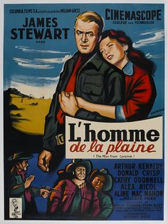 The Man From Laramie (Columbia, French Grande X Western. Starring James Stewart, - Available at Sunday Internet Movie Poster. Jack Elam, Baba Yaga, O Donnell, Creative Advertising, Pulp Fiction, Casablanca, Mac Mahon, Columbia, Films Western
