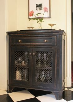 Distressed Bar Cabinet   McCLURE Architecture