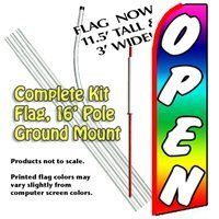 Diver Down Swooper Flag Bow Feather 15 Tall Complete Starter Kit