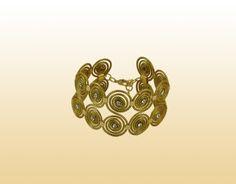 Pulseira Caracol Duplo Strass — Brasil Capim Dourado