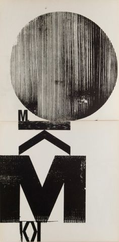 By Wolfgang Weingart, 1962, experiment book, double side, Woodblock, Museum für Gestaltung Zürich.