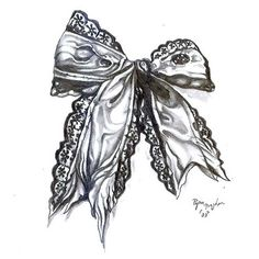Sexy Bow Tattoo Design