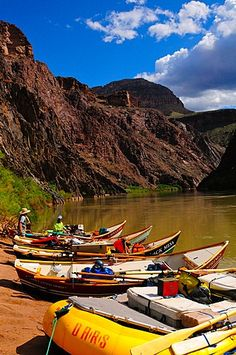 Dory moored along the Colorado River, Colorado, United States of America, North… Grand Canyon National Park, National Parks, Grand Canyon Rafting, Colorado River, Dory, Trip Planning, North America, Places To Go, Around The Worlds