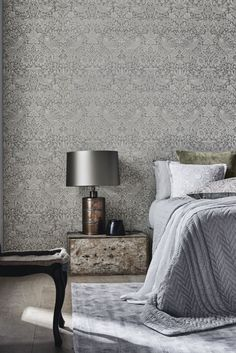 Create A Traditional Morris Bedroom With This Wallpaper Design Clically Modern Twist The