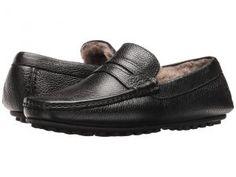 Massimo Matteo Freddo Geunine Lamb Lined Driver (Black) Men's Slip on  Shoes