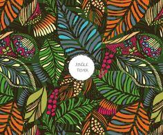 "Jungle fever -dark, pattern design by ""Pattern Addict"""