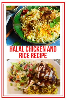 Do you love the Halal chicken and rice that you find from food carts in NYC? We do too. Here is a quick and easy recipe to create the same amazing dish at home.  #HalalChicken #ChickenRiceRecipe