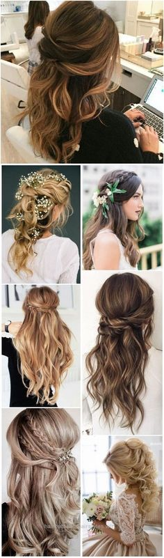 Unbelievable Wedding Hairstyles » 22 Half Up and Half Down Wedding Hairstyles to Get You Inspired » ❤️ See more: www.weddinginclud…  The post  Wedding Hairstyles » 22 Half Up and ..