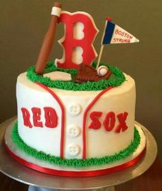 Boston Red Sox See More Baseball Theme Cakes Birthday Party Sports 9th