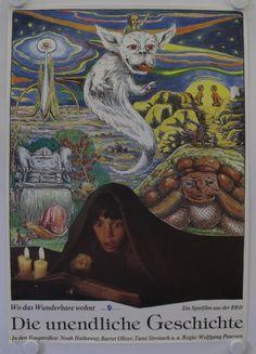 The Neverending Story Vintage Movie Poster Pet Sematary, Neverending Story 3, Vintage Movies, Vintage Art, Hobbit, Quilt Inspiration, Saga, Narnia, Harry Potter