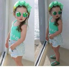 Little Fashion Little Girl Fashion, Kids Fashion, Little Girls, Kids Outfits, Sunglasses, Style, Babe, Princess, Toddler Girls