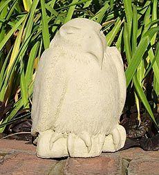 USA-Made Cast Stone Meditating Eagle