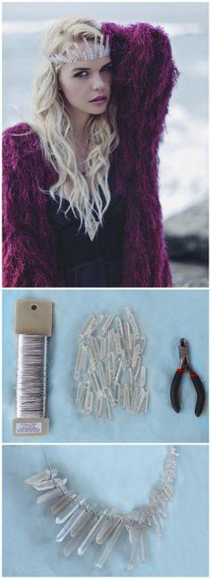 DIY Crystal Criwn Tutorial and a roundup of 20+ rough crystal jewel DIYs