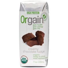 Orgain Ready-To-Drink Certified Organic Meal Replacement, Creamy Chocolate Fudge Listerine, Chocolate Fudge, Chocolate Flavors, Meal Replacement Drinks, Organic Protein, High Protein, Nutrition Shakes, Meal Deal, Organic Recipes