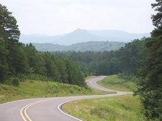 Forked Mountain on highway 7 near Hollis Arkansas