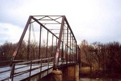 Stepp Ford bridge west of Commerce, Oklahoma | Stepp Ford Bridge, Miami Oklahoma.  This bridge is to be torn down on February 17, 2015,  My husband drove a fire truck across this bridge years ago.    :( Sad to see old bridges go.