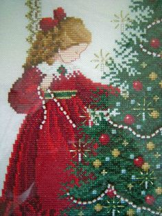 Told in a Garden 'Oh Christmas Tree' - stitched in 2002 by me. Part of my Christmas decorations every year....