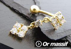 Vente de bijoux de piercings en or massif : piercing nombril en or massif, microdermal en or massif.