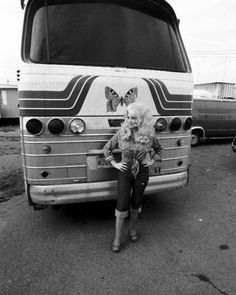 dolly parton. I love her went through this bus on tour at Dollywood.