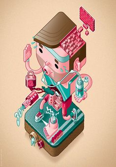 Health & Fittness by Lee Hasler, via Behance