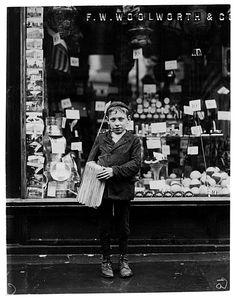 Lewis Hine's photographs of child labor circa 1910.