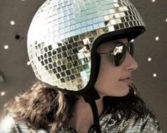 Disco Helmet. Want.