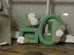 Decorative Picture Frames Embellished with by ThrownTogether, $35.00