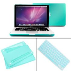 Amazon.com: IMAGE Tiffany Blue 3 in 1 Bundle Rubberized Hard Case Laptop Shell For Macbook Pro 13 13.3 w/ Retina display A1425 + Keyboard Skin Protector + Screen cover: Computers & Accessories