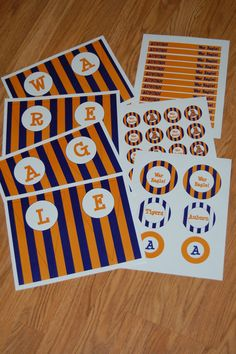 Auburn Alabama LSU Tailgate Printables Party Packs  by BitsDesigns, $16.99