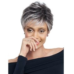 Gray Wigs African Americans Dark Gray Hair Toner Purple And Grey Wig P – wigsblonde Dark Grey Hair, Grey Wig, Short Grey Hair, Gray Hair, Grey Hair Styles For Women, Wigs For Black Women, Short Hair Styles, Undercut Hairstyles, Cool Hairstyles