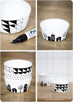 Decorate your own bowls, mugs and plates.